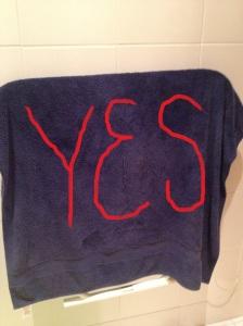 towel yes